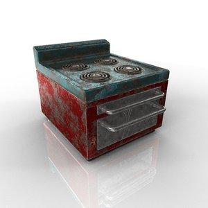 cooker old 3D model