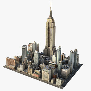 manhattan district 06 city 3D model