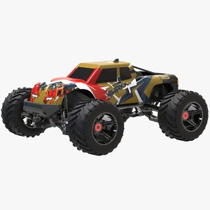 3D rc monstertruck car model