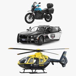 3D rigged police transport model