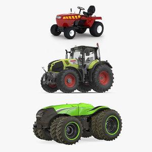 tractors rigged 3D