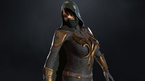 assassin girl 3D