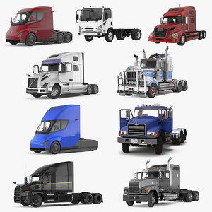 3D rigged trucks 4