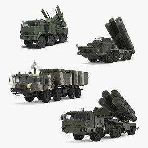russian missile systems rigged 3D