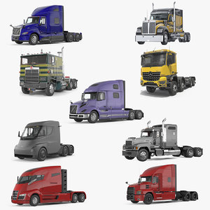 semi trucks 3D model