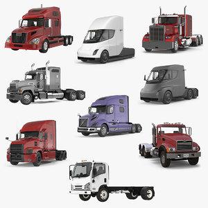 3D trucks 3 model