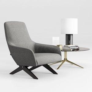 poliform marlon armchair 3D model