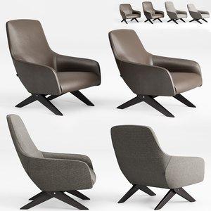3D poliform marlon armchair model