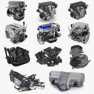 vehicle engines big 3D model