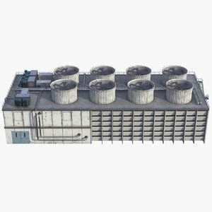 3D model cooling tower