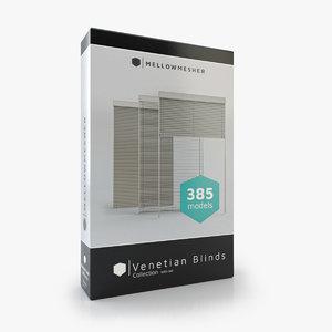 venetian blinds rails 3D model