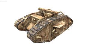 mark tank 3D model