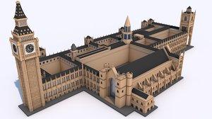 3D london landmark ben