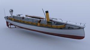 boat war 3D model