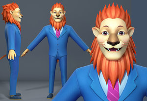 art lion suit 3D model