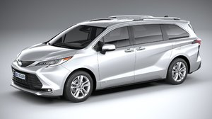 3D toyota sienna 2021 model