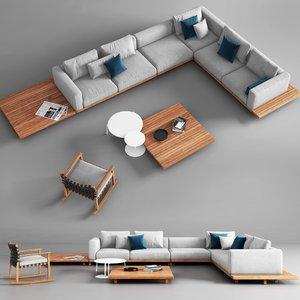 tribu vis sofa rocking chair 3D model