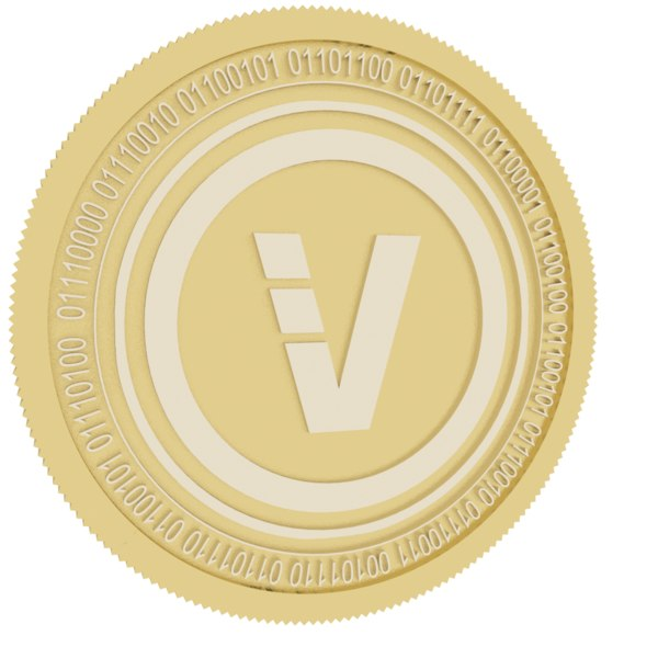 3D model veriblock gold coin