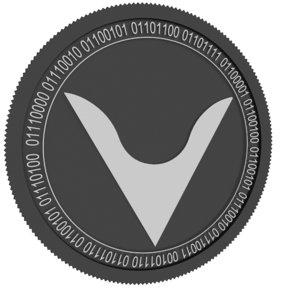 3D veil black coin model