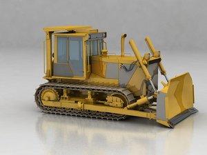 bulldozer construction sight 3D