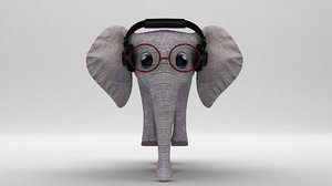 3D toon elephant