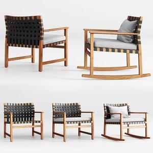 3D vis club chair rocking