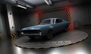garage scene ar vr 3D model