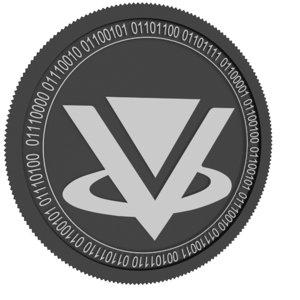 3D vibe black coin