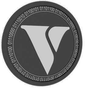 3D vexanium black coin model