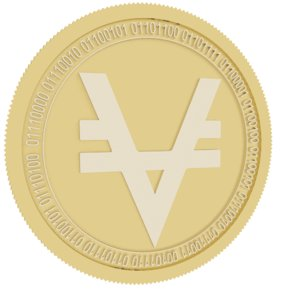 3D viacoin gold coin
