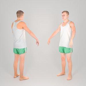 scanned man a-pose model