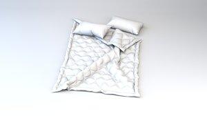 3D duvet pillows marvelous designer model