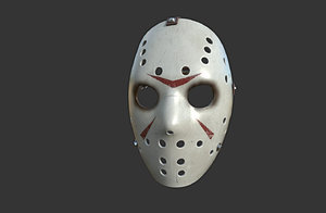 3D model mask hockey killer