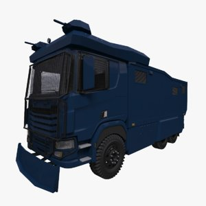 police water cannon truck 3D