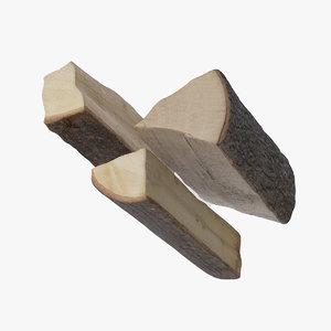 3D wood-pillets firewood