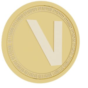 3D viberate gold coin