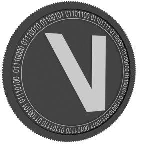 3D viberate black coin