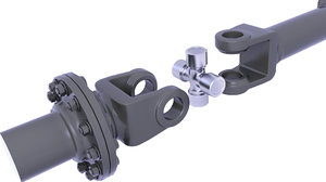 drive shaft suspension 3D model