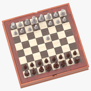 chess board set 02 3D