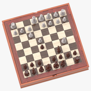 chess board set 02 3D model