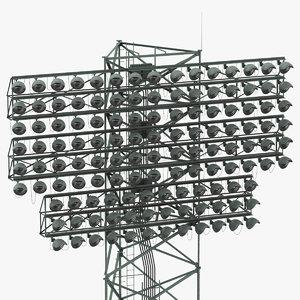 3D stadium lights model
