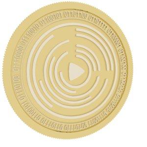 videocoin gold coin 3D model