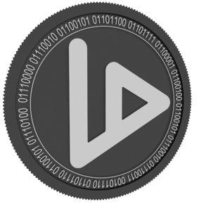 3D v id black coin