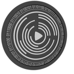 3D videocoin black coin