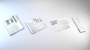 news newspaper paper 3D