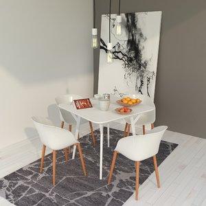 3D minimalist tableware