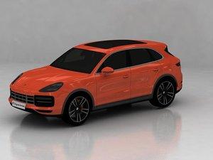 3D porsche 2020 cayenne model