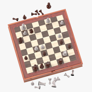 chess board set 02 model