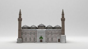 bursa ulu cami mosque 3D model