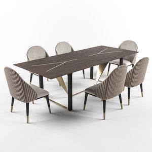 table prisma chair diva 3D model